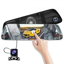 Cámara de Coche 5.5 Pulgadas IPS Pantalla Táctil FHD 1080P,Espejo Retrovisor con Cámara de Retroceso