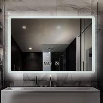 espejo de baño LED Iluminado, Espejo Inteligente de Pared, indicador de Tiempo