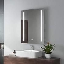 Espejo del Cuarto de baño Led Espejo del baño con luz Colgante de Pared Antiniebla Aseo Luz