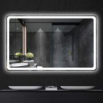 Espejo inteligente pantalla táctil led baño espejo colgante de pared baño baño luz de niebla