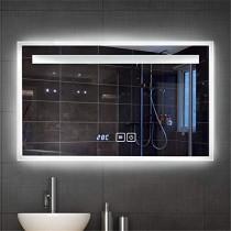 KJUHVBF Espejo de baño Iluminado, antiniebla, Inteligente LED