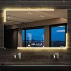 Specchio da bagno HLF- Espejo de baño montado en la Pared, Espejo de baño Inteligente con música Bluetooth