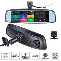SZKJ K820 – Espejo retrovisor para salpicadero de Coche con GPS Bluetooth WiFi Android 5.1